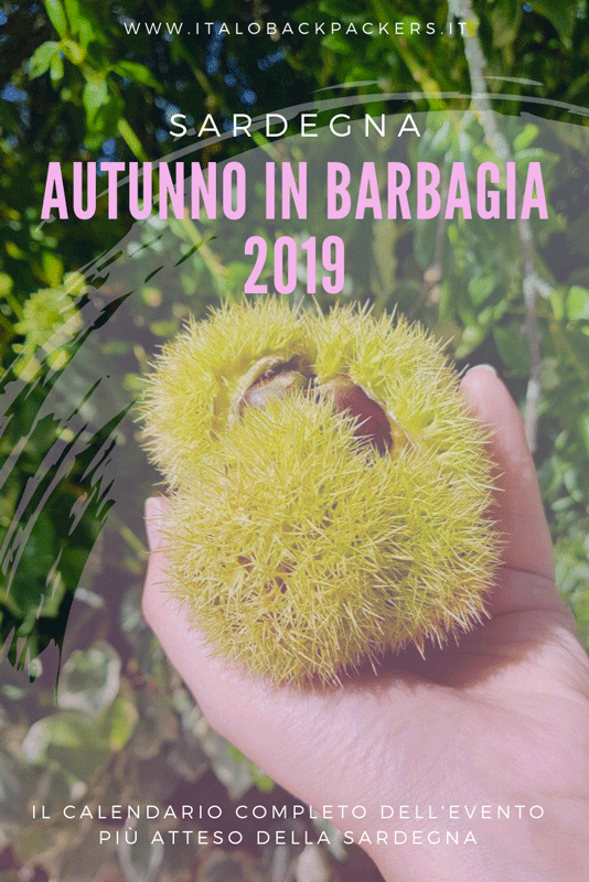 Autunno in Barbagia 2019 Sardegna calendario completo