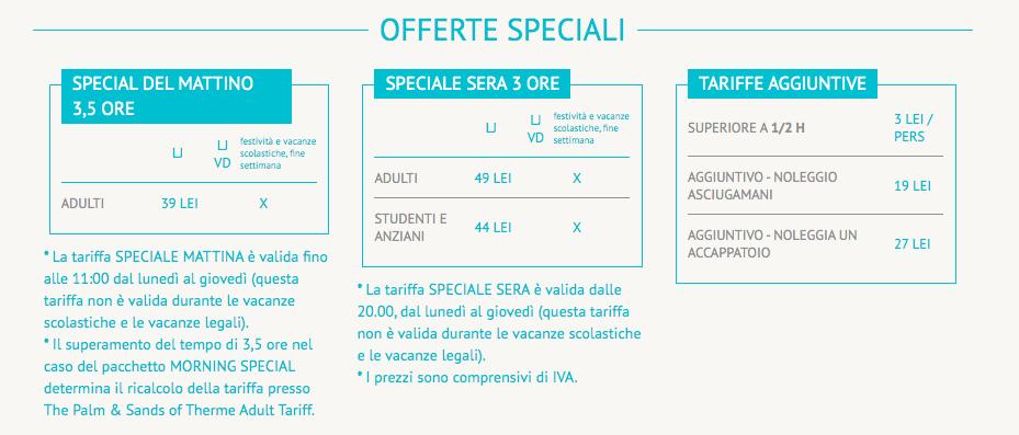 Offerte speciali Terme Bucarest prezzi